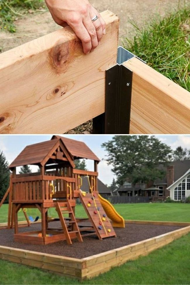 Awesome Diy Playgrounds Border Ideas, How To Build A Playground Border
